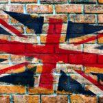 レンガとイギリス国旗