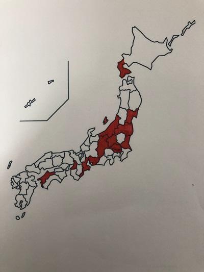 日本一周 白地図