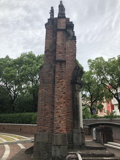 長崎 原爆投下地点 浦上教会残骸
