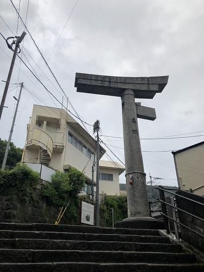長崎 山王神社 一本鳥居