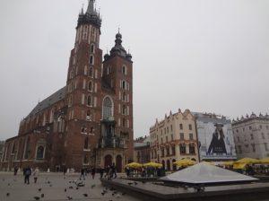 ポーランド クラクフ 中央広場