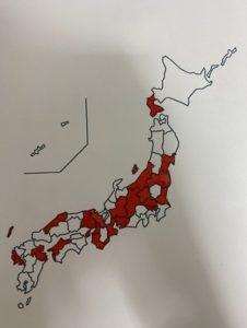 日本地図 京都 白地図