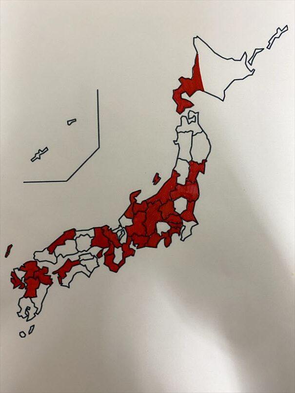 白地図 福岡 熊本